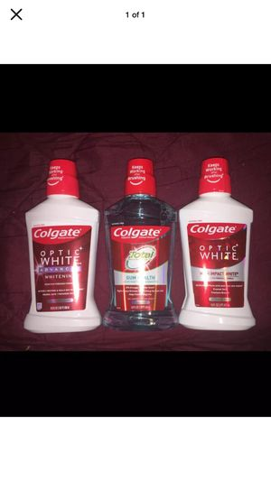 Colgate Optic White & Total Mouthwash for Sale in Pottsville, PA