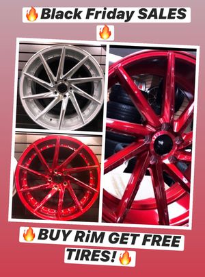 🔥🔥🔥Black Friday SALES! BUY Rims get FREE Tires🔥🔥🔥(only 50 down payment / no credit needed ) for Sale in Englewood, NJ