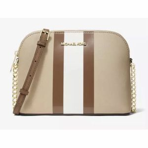 MICHAEL KORS CINDY STRIPED SAFFIANO LEATHER DOME CROSSBODY BAG *BRAND NEW* for Sale in Ontario, CA
