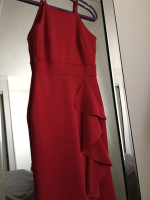 Red Prom Dress with side Slit size small (very comfy stretchy thick non see thru material) for Sale in Homeland, CA