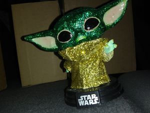 Funko pop baby Yoda Mandalorian custom diamond for Sale in Oklahoma City, OK