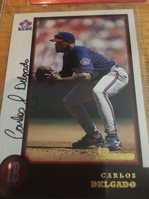 Baseball card Carlos delgado autographed 1998 for Sale in Norwalk, CA