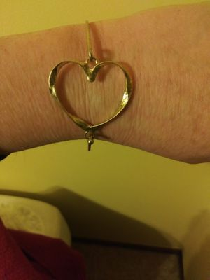 Wire wrapped heart bracelet for Sale in Arvada, CO