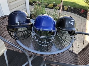 Baseball helmets, bats, 4 gloves, and 2 Nike baseball bags for Sale in Elgin, IL