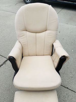 Maternity gliding rocking chair with footstool . Good condition . for Sale in Long Grove, IL