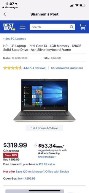 HP laptop BRAND NEW for Sale in Manassas, VA