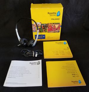 Rosetta Stone Italiano: Italian Levels 1,2,3,4,& 5 Version 4 for Sale in Fresno, CA