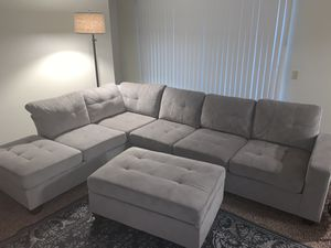 Sectional Couch + Ottoman for Sale in Modesto, CA