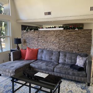 Gray Suede Couch for Sale in Bradbury, CA