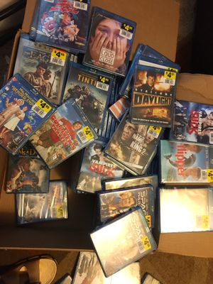 LOTs of 146 new unopened Blu Ray movies for $90 for Sale in Charlotte, NC