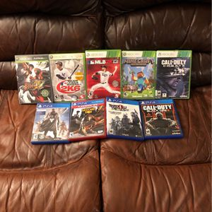 5 Xbox 360 Games, 4 Ps4 Games for Sale in Hollywood, FL
