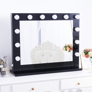 New in box $180 Hollywood LED Vanity Mirror with 12 Dimmable Light Bulbs Beauty Makeup 32x26 inches for Sale in Whittier, CA