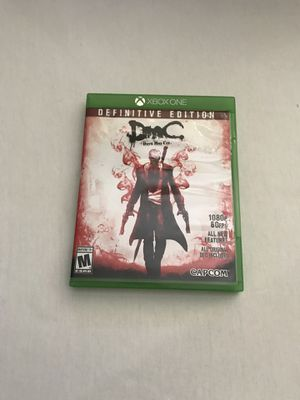Xbox One Game:Devil May Cry Definitive Edition Disc Like New for Sale in Reedley, CA