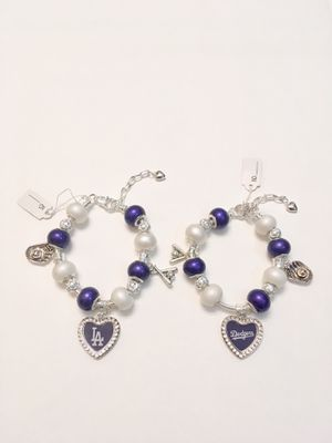 LA Dodgers Silver Snake Chain Charm Bracelet. for Sale in Madera, CA