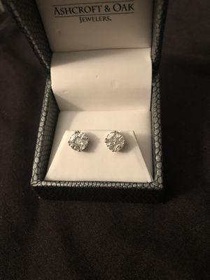 14k white gold diamond earrings for Sale in Columbus, OH
