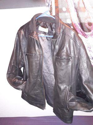 Michael Kors black leather jacket for Sale in Gulfport, FL