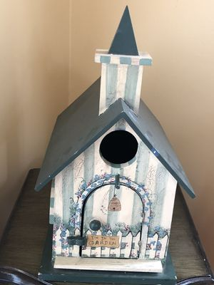 Hand Painted wood birdhouse for Sale in Durham, CT