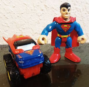 Superman monsterjam & imaginext figure for Sale in Oklahoma City, OK