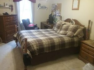 Double bed ,,, dresser,,,, night stand,,,, desk,,,, bookcase for Sale in Bel Air, MD