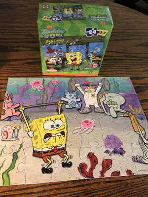 Soongebob puzzle with sandy, Gary, jelly fish and squidward in Bikini Bottom - fun for children! family game night! for Sale in Phoenix, AZ