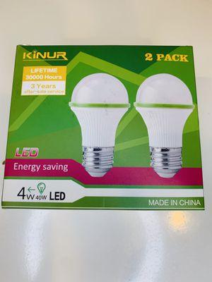 A15 Refrigerator Light Bulb 40 watt Appliance Light Bulb Replacement, 4W 120V E26 Base 5000K Daylight Waterproof UL Listed Ceiling Fan Fridge Freezer for Sale in Azusa, CA