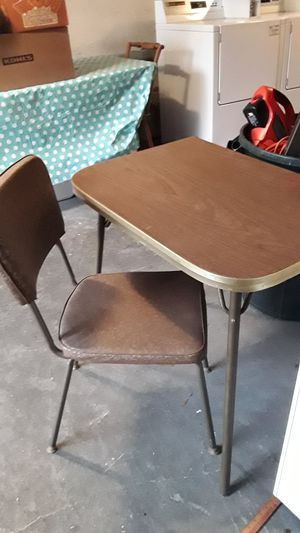 Mid-century table and matching chair. for Sale in Normandy Park, WA