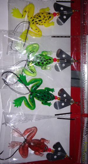 Fishing lures. Frogs with spinners for Sale in Dallas, TX