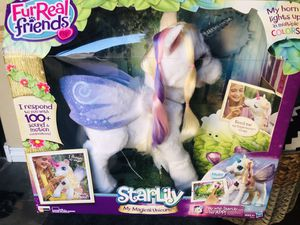 FurReal Friends Star Lily Magical Unicorn Interactive Plush Pet for Sale in Waddell, AZ