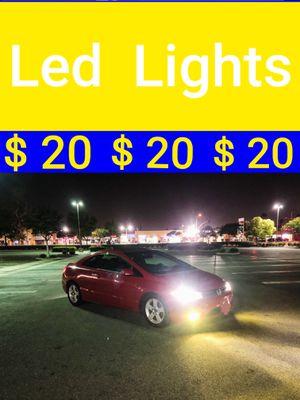 Led Lights Headlights Daytime Running Lights Fog Lights hid Lights Kit Bulbs $20 pair for Sale in Santa Ana, CA