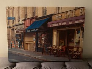 Canvas photo of French cafe scene for Sale in Culver City, CA