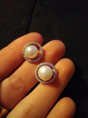 Sterling pearl earrings for Sale in Salt Rock, WV