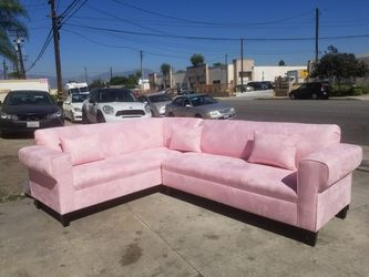 NEW PINK FABRIC SECTIONAL COUCHES for Sale in Los Angeles,  CA
