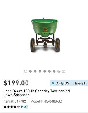 John Deere tow behind lawn spreader for Sale in Riverside, CA