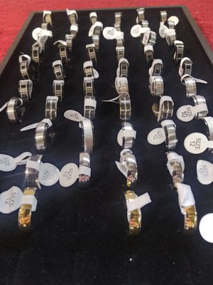 Brand new stainless steel men's ring lot for Sale in Columbus, OH