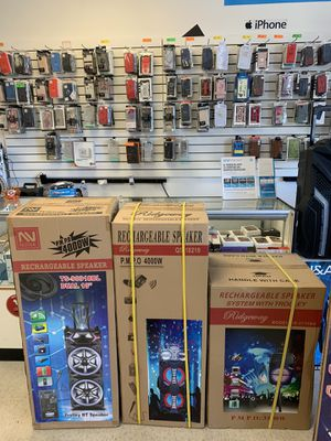 Big and small party DJ Bluetooth Wi-Fi speakers come visit our store 5051 w olive ave for Sale in Phoenix, AZ