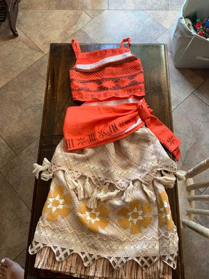 Moana Costume size 4 for Sale in Signal Hill, CA