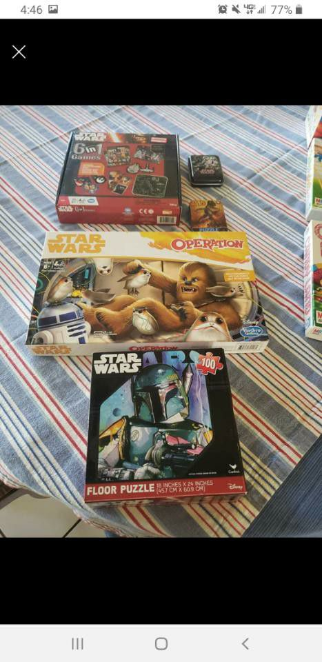 Star Wars games and puzzles
