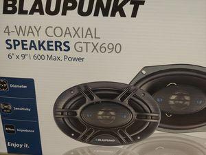 Car speakers : brand new !! Blaupunkt 6×9 4 way 600 watts car speakers ( brand new ) for Sale in Bell Gardens, CA