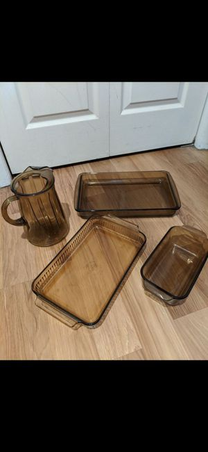 Brown Glass Glassware and Bakeware for Sale in Bardonia, NY
