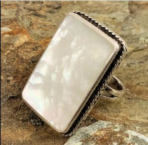 Rectangle Mother of Pearl Sterling Ring for Sale in Roswell, GA