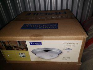 Flushmount chrome light fixture for Sale in Middletown, MD