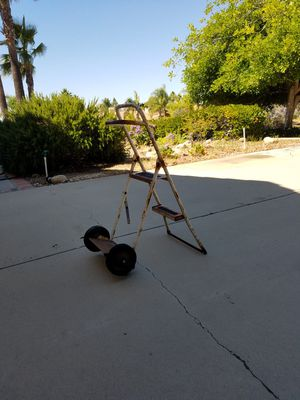 Convertible Dolly and stepladder, Rusty but functional for Sale in Riverside, CA