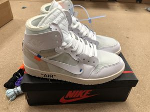 Air jordan 1 off white. Size 11 and 10 for Sale in Norwalk, CA