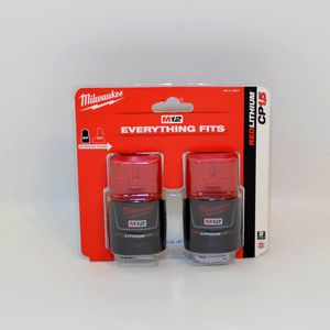 Milwaukee M12 12-Volt Lithium-Ion Compact Battery Pack 1.5Ah (2-Pack) Model#48-11-2411 for Sale in Santa Rosa, CA