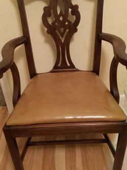 4) Henkel Harris 101s Chippendale Dining Chairs for Sale in Houston,  TX