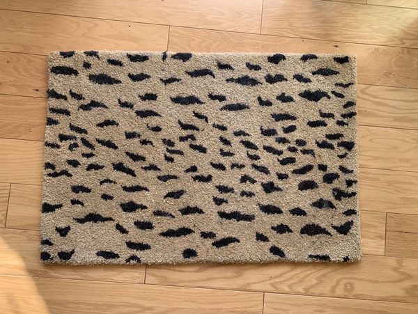 Wool Cheetah Animal Print Rug 6' x 6' Made in India
