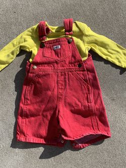 Red Overalls / Stewie Costume (12-18mo) for Sale in Martinez,  CA