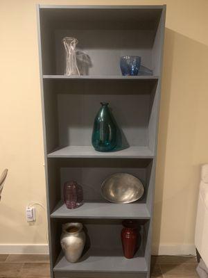 2 wooden Bookshelves - blueish/ gray for Sale in Austin, TX