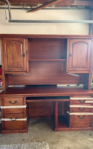 Desk with hutch solid wood for Sale in San Diego, CA