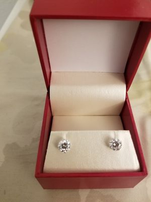 2ct Earrings in 14k white Gold by Agape Diamonds for Sale in Alexandria, VA
